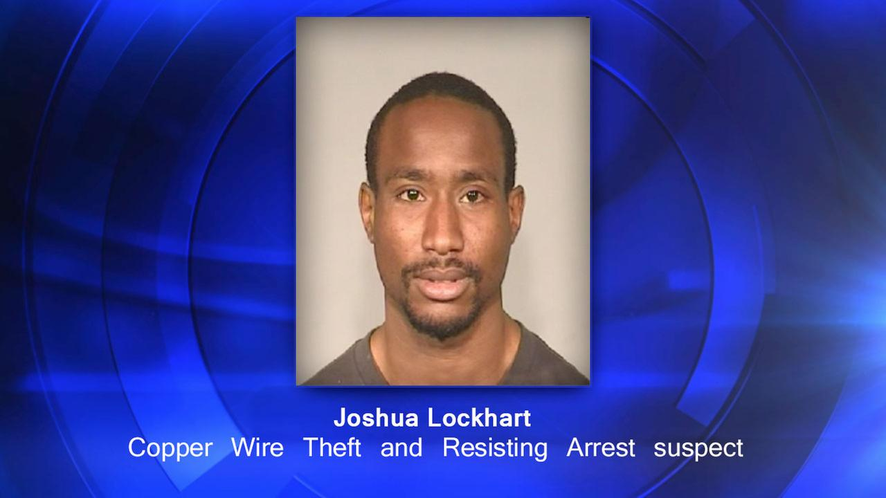 Joshua Lockhart  - Copper Wire Theft and Resisting Arrest suspect