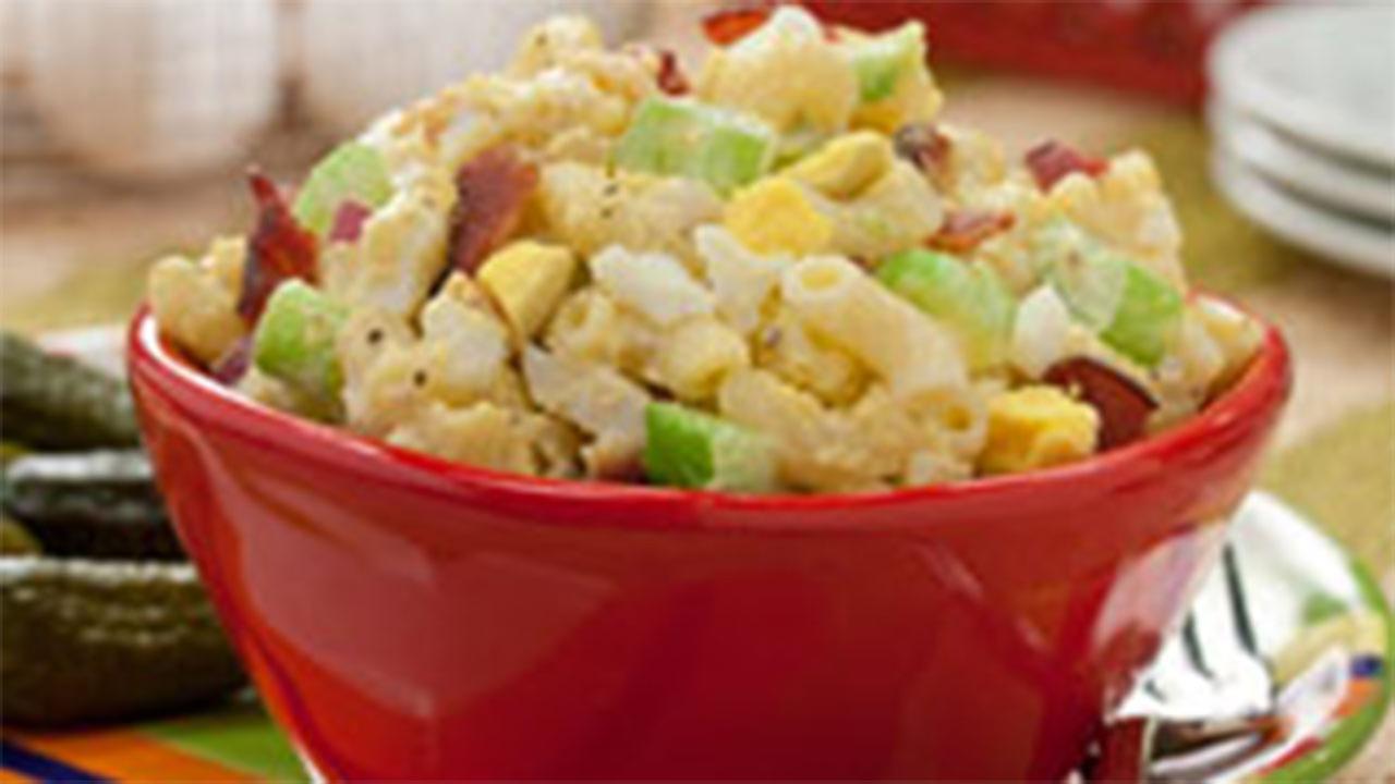 Bacon and Egg Macaroni Salad