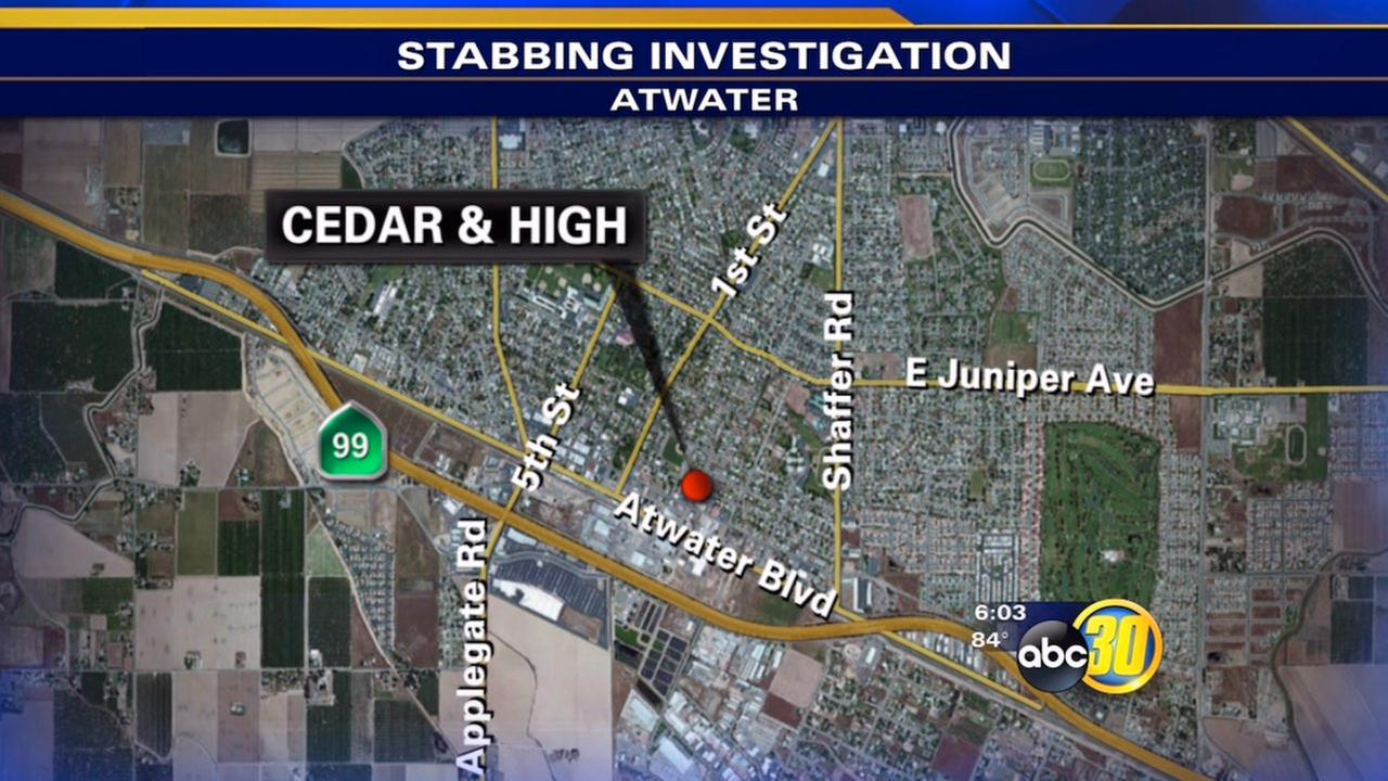 Man stabbed in the back in Atwater