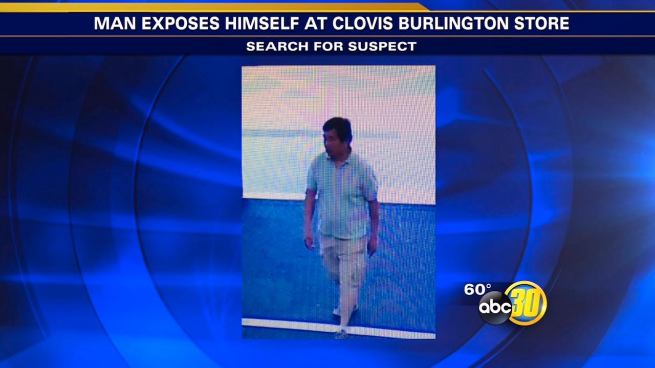 Man wanted for exposing himself to child at Burlington Coat Factory in Clovis
