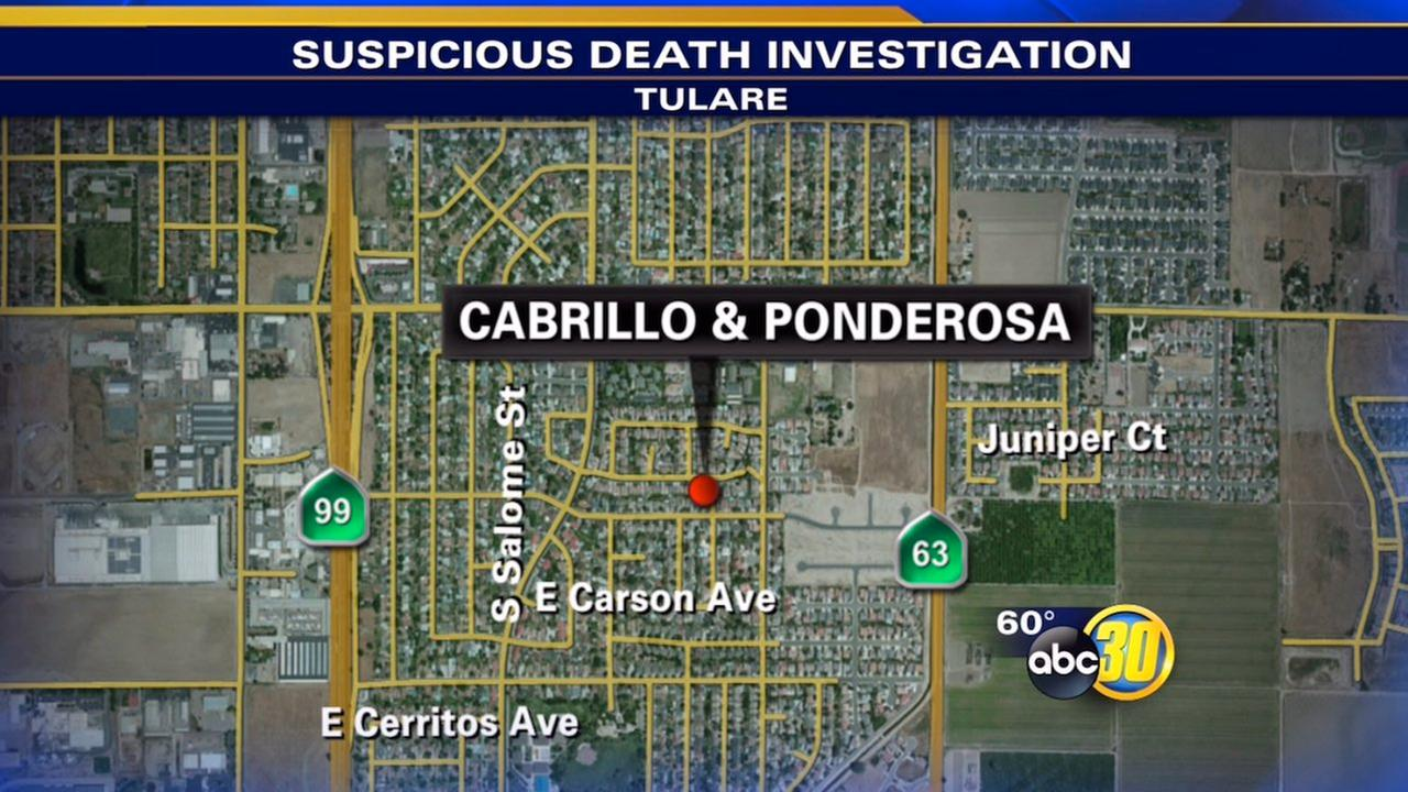 Tulare mans death treated as suspicious