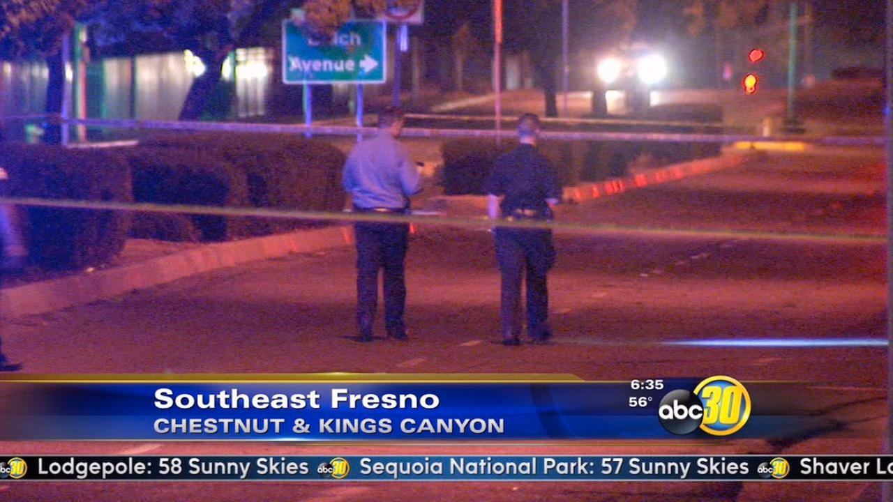 Fresno police are at the scene of a shooting.