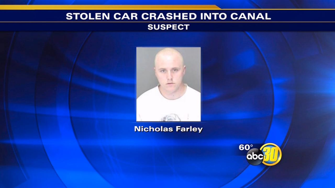 Atwater-area high-speed chase ends in crash, arrest of man in stolen car