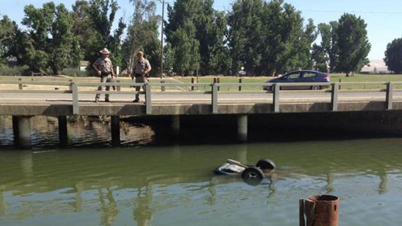 Baby pulled from car inside a Merced County canal