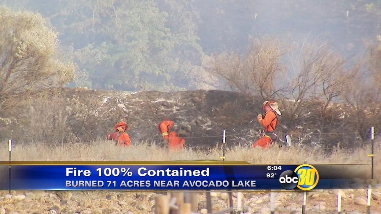 Fresno County crews fully contain fire near Avocado Lake