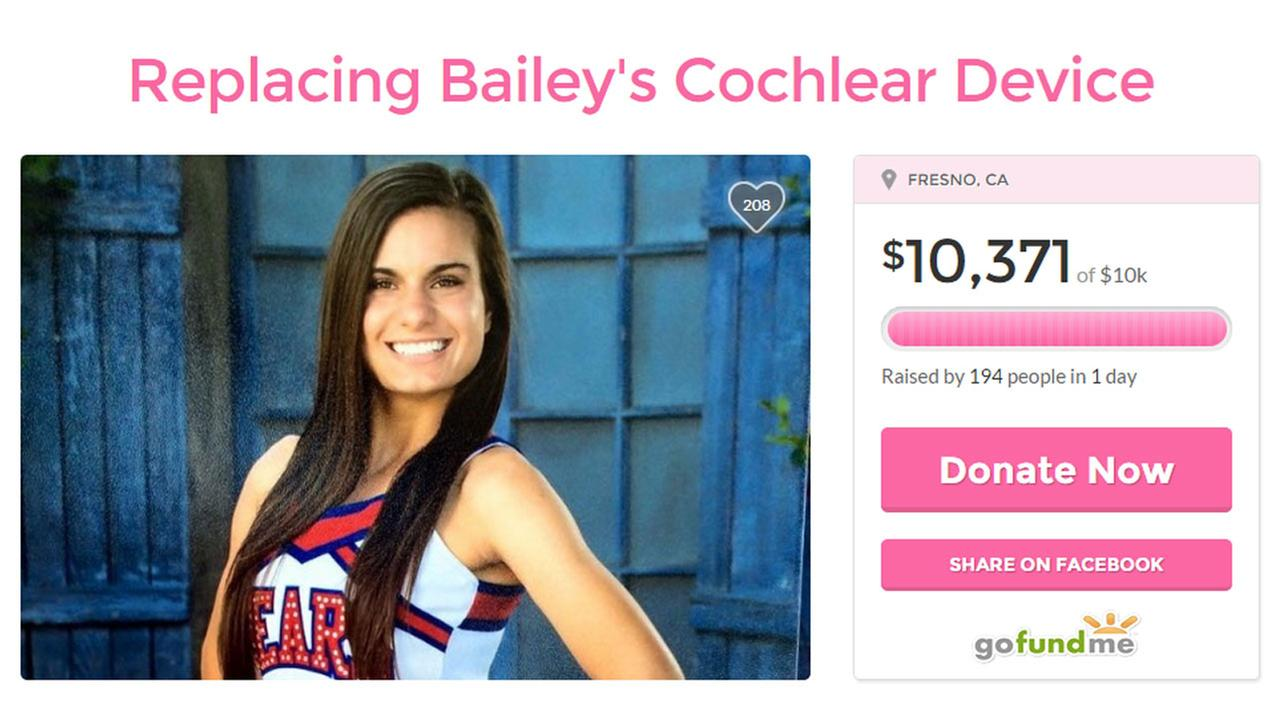 $10,000 raised for hearing-impaired Valley teen who had Cochlear implant stolen
