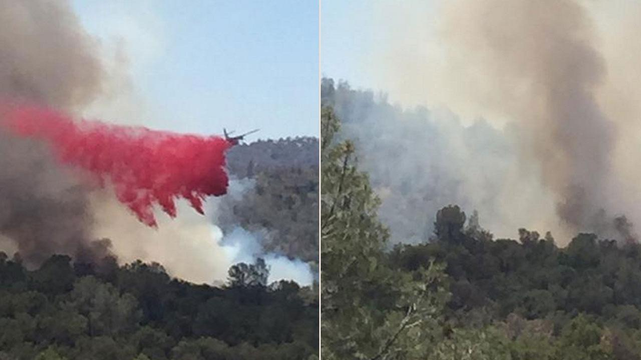 ‏#abc30insider @gherimicheleCPC sent in these pictures from the Fox Fire in Mariposa County.