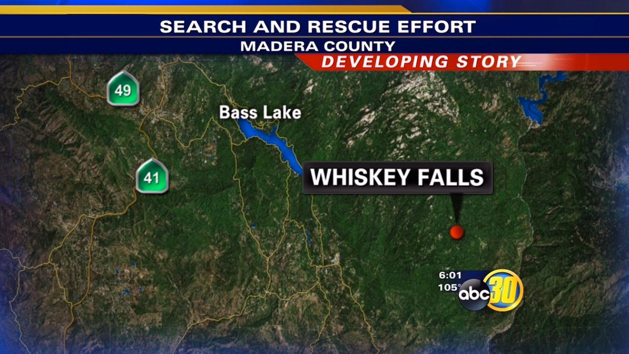 Whiskey Falls in Madera County