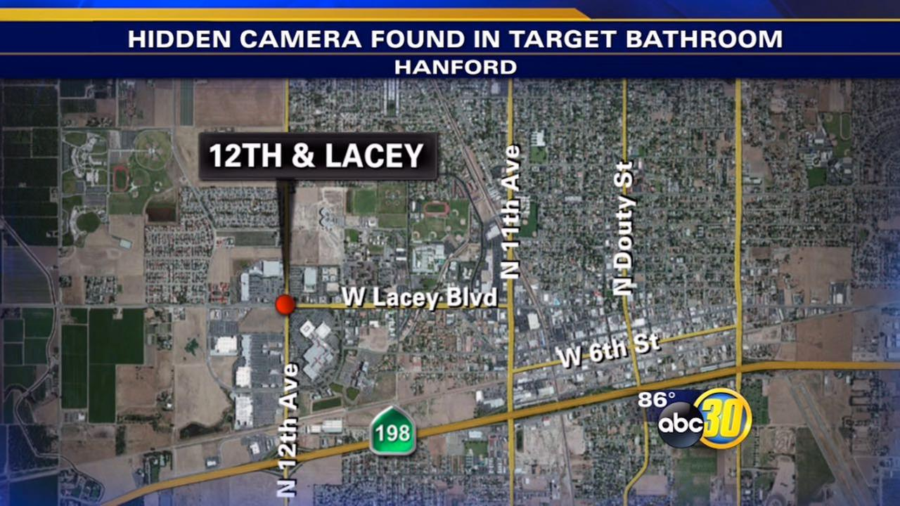 Target employee in Hanford finds hidden camera inside restroom