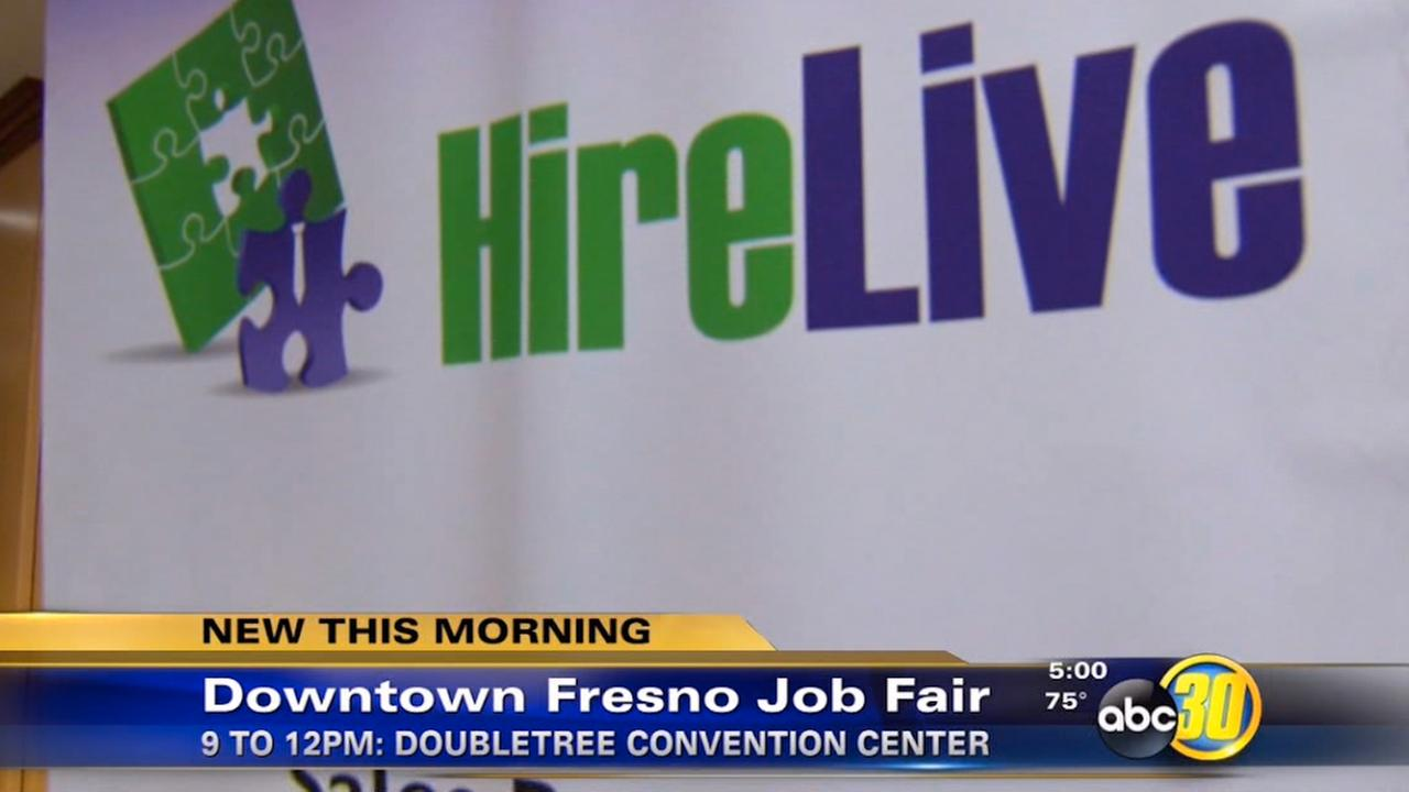 HireLive is hosting a free job fair at the DoubleTree Hotel Convention Center in Downtown Fresno on Wednesday, July 22, 2015.