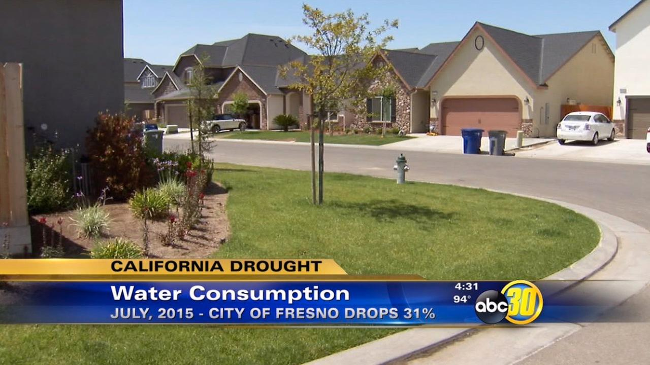 Fresno water use drops in July