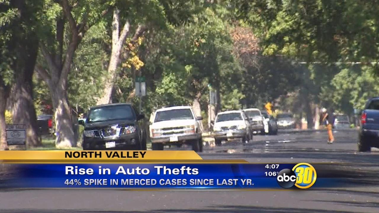 Merced sees spike in auto theft cases