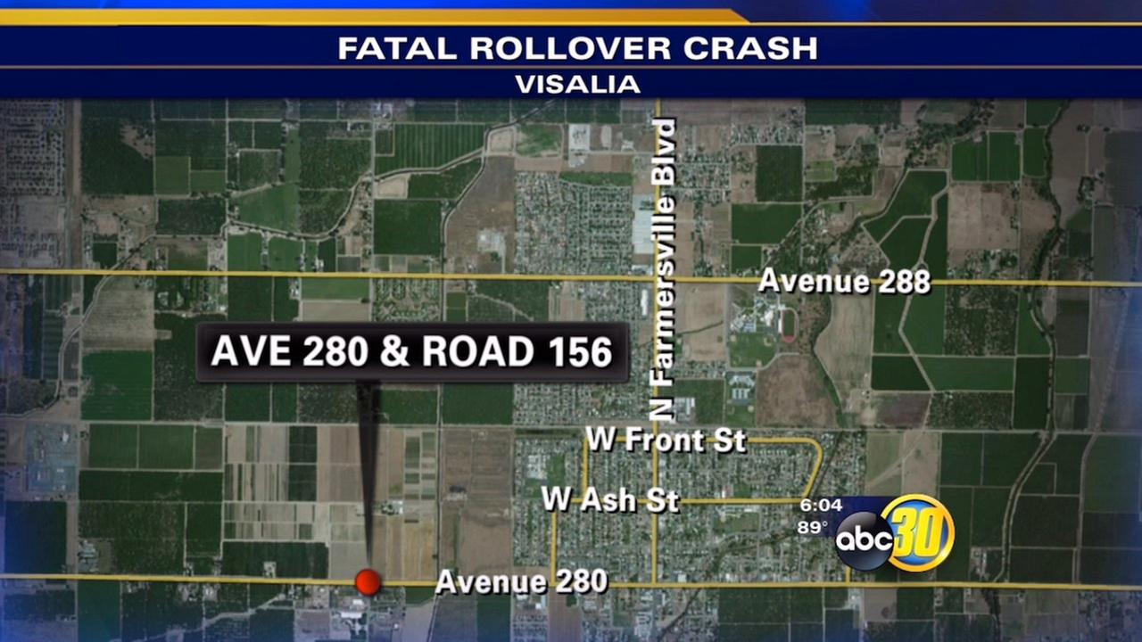 Tulare County rollover crash kills Visalia man