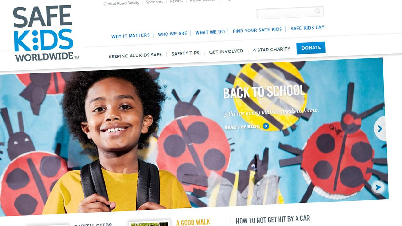 Screenshot of the Safe Kids Worldwide website