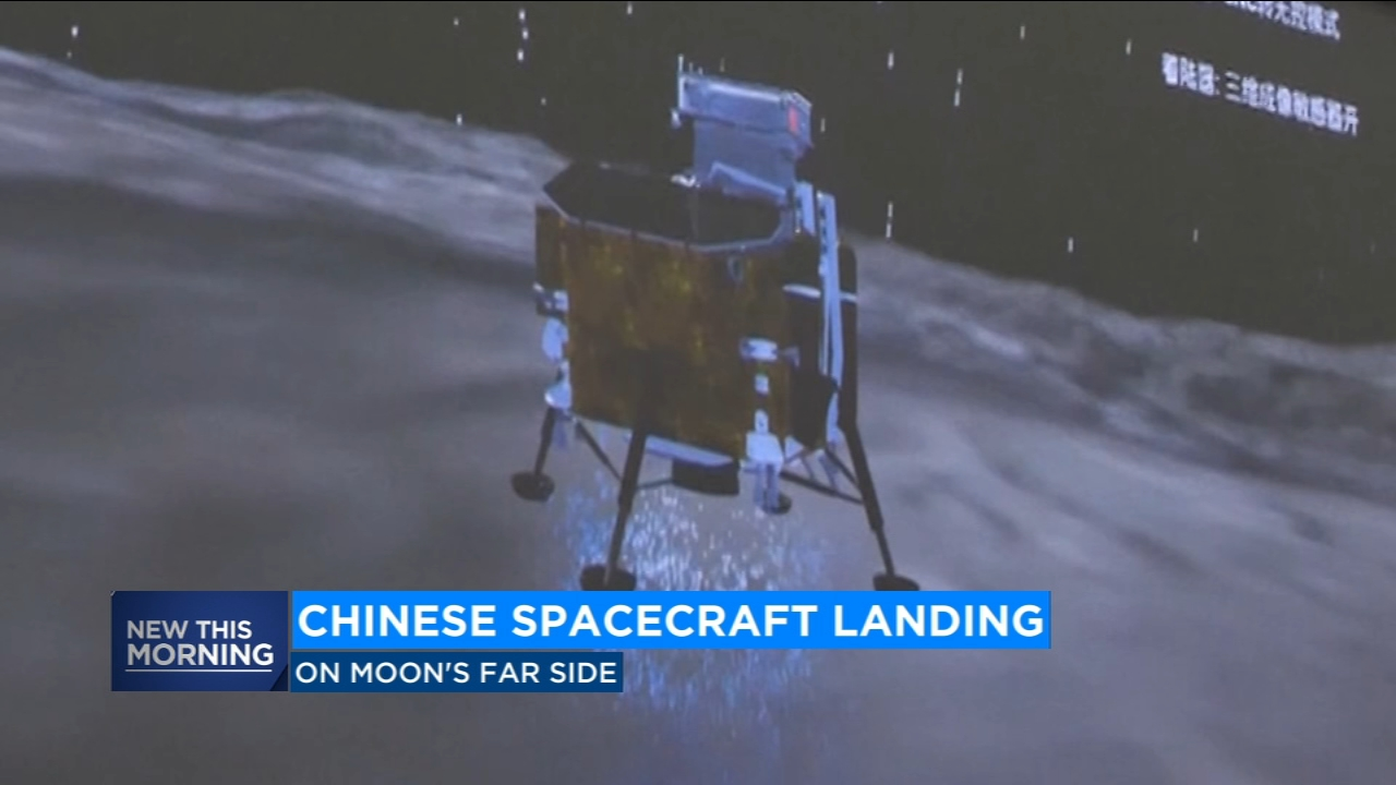 A Chinese spacecraft on Thursday made the first-ever landing on the far side of the moon, state media said.