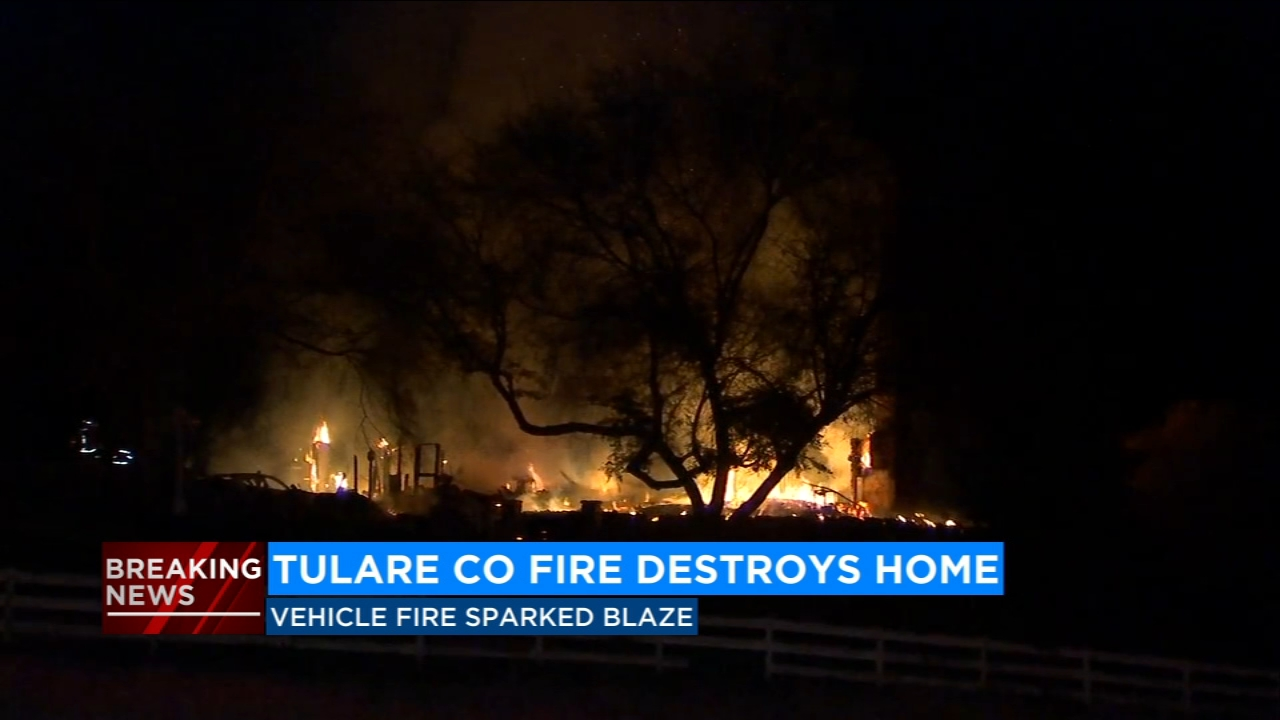 Fire crews in Tulare County are trying to determine what started a large house fire Thursday morning.