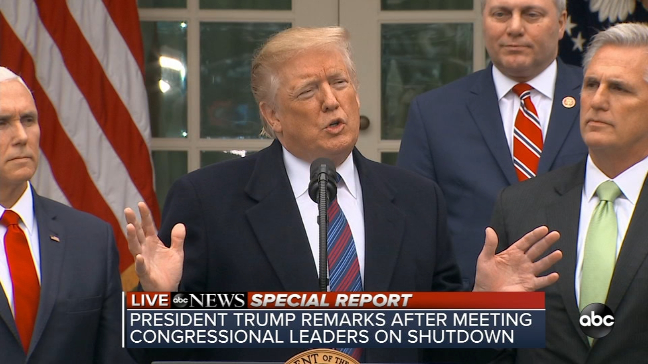 President Trump holds press conference about government shutdown and border security.