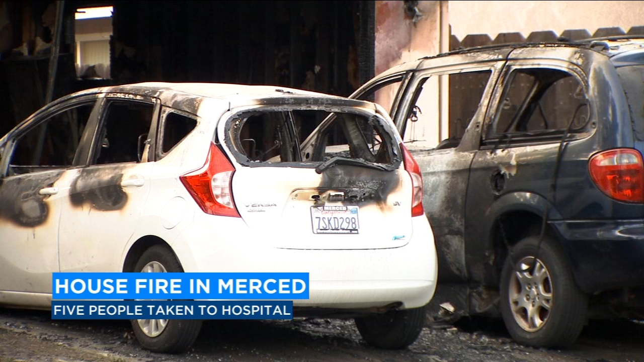 5 people injured in Merced house fire