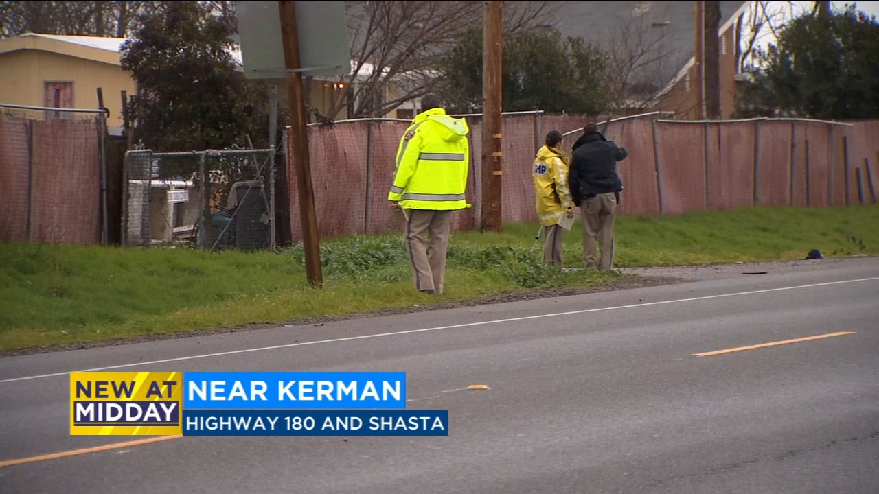 The California Highway Patrol is trying to find the driver of a car that hit and killed a man riding a bike near Kerman.