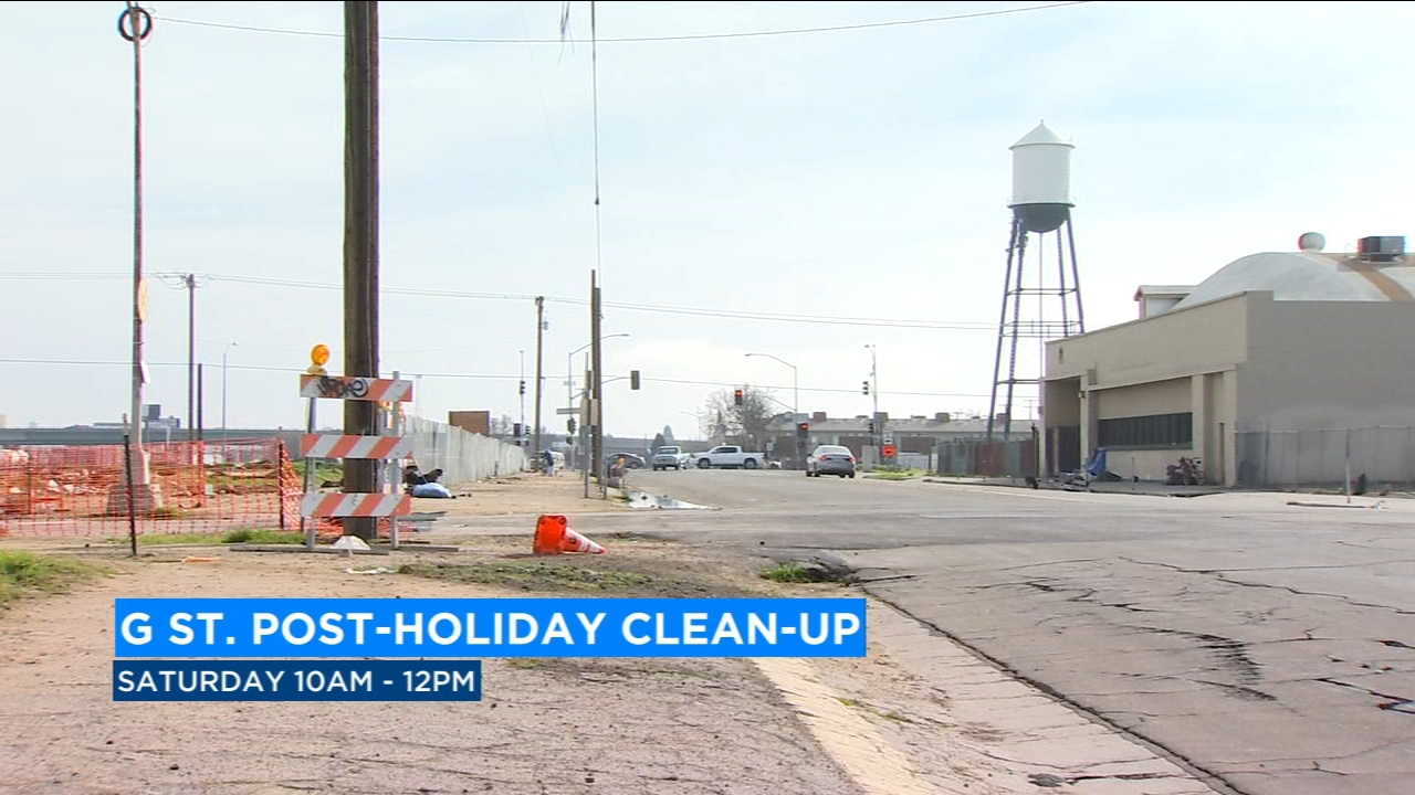The Fresno Rescue Mission is organizing a post-holiday cleanup event along G-Street this Saturday.