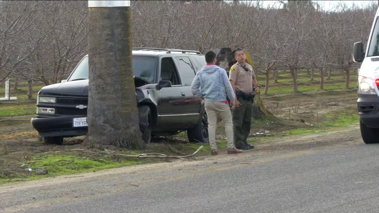 Car slams into tree when motorcyclist fires shots at vehicle