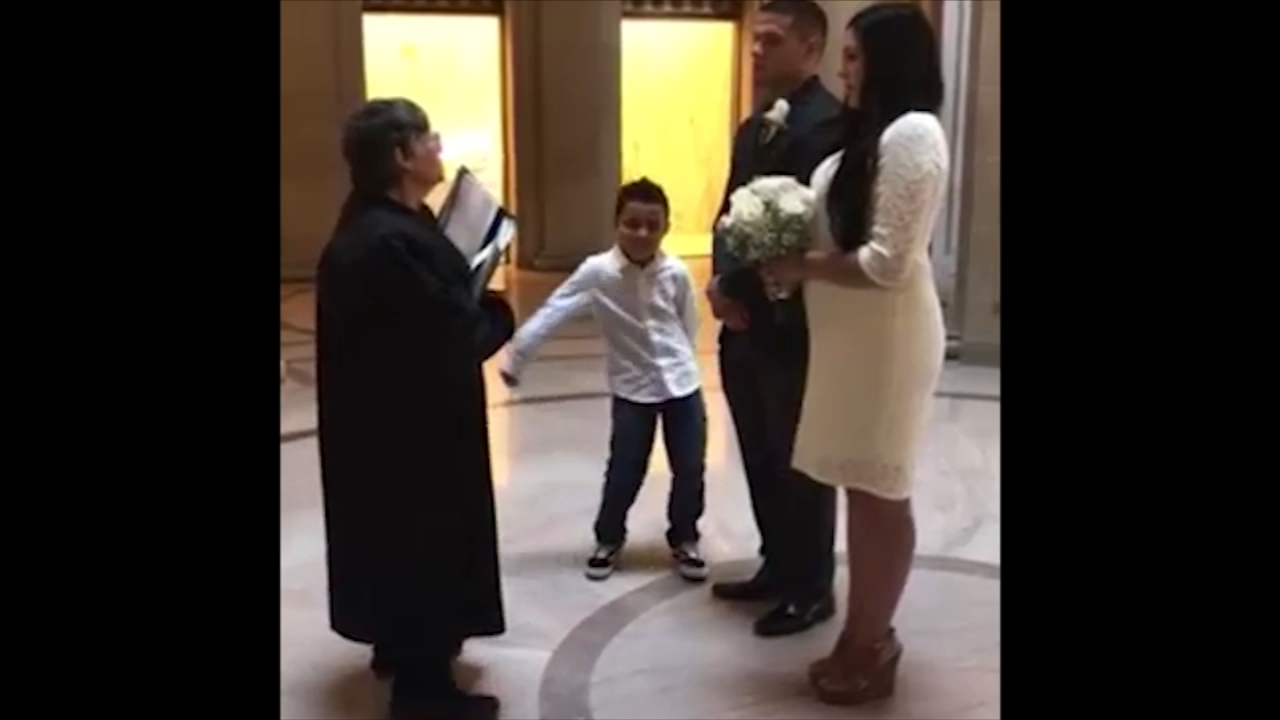 FLOSS BOSS: Fresno County kid steals the show at his parents wedding. A clip of the video made it on ABCs Americas Funniest Home Videos (Courtesy: Grandma Anneette)