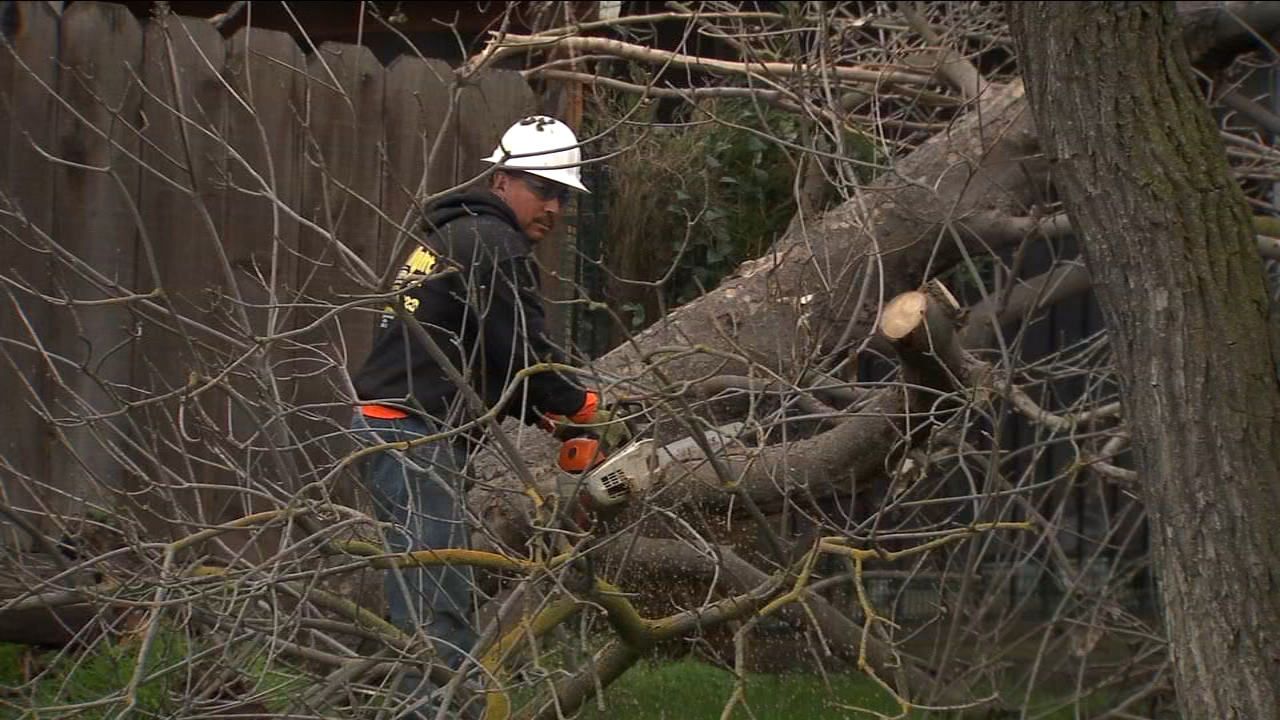 City of Fresno crews were out on the streets pumping water and making sure the roads are clear of any debris following a series of storms in the Valley.