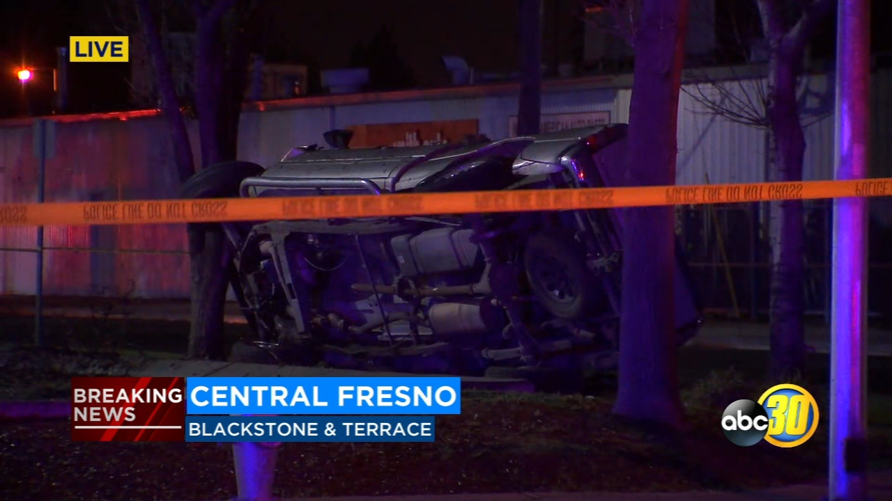 Fresno Police are investigating a violent rollover crash in Central Fresno.