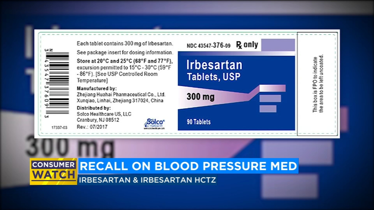 Blood pressure medication recalled for containing cancer-causing substance