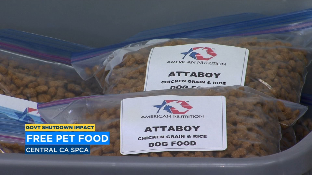 CCSPCA offers free pet food for federal employees impacted by shutdown