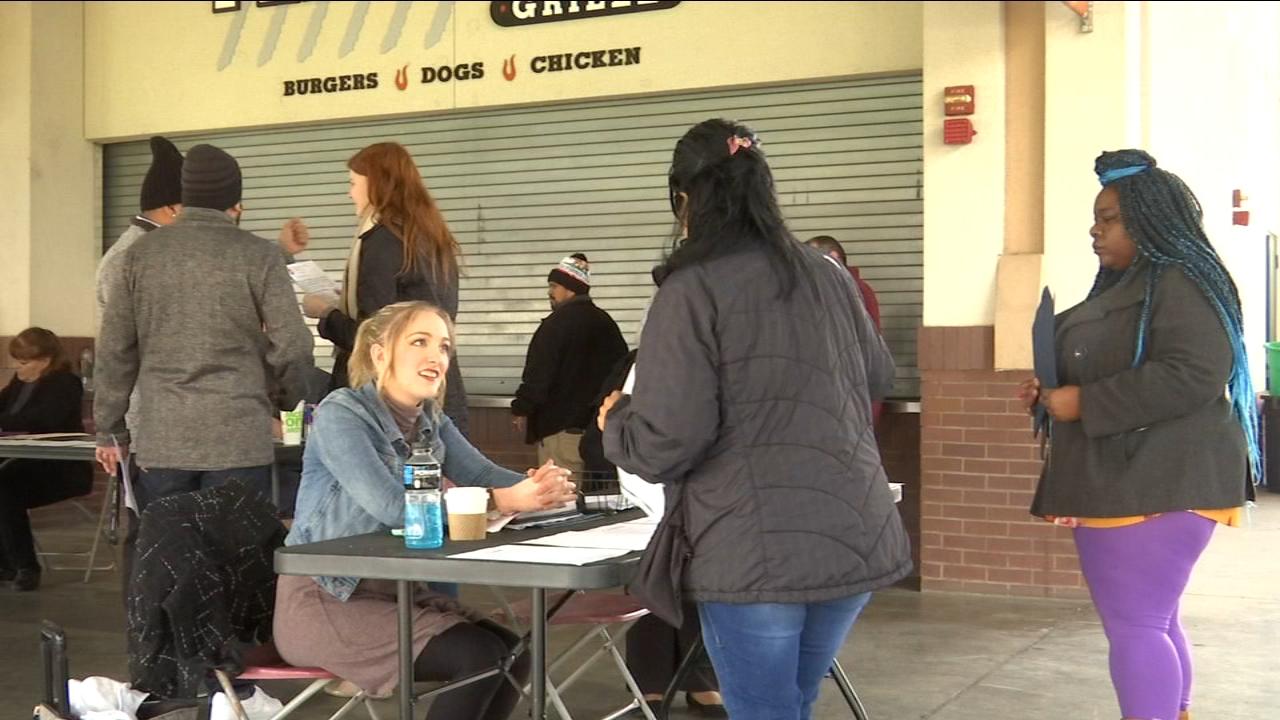 Hundreds come out for Fresno Grizzlies job fair at Chukchansi Park