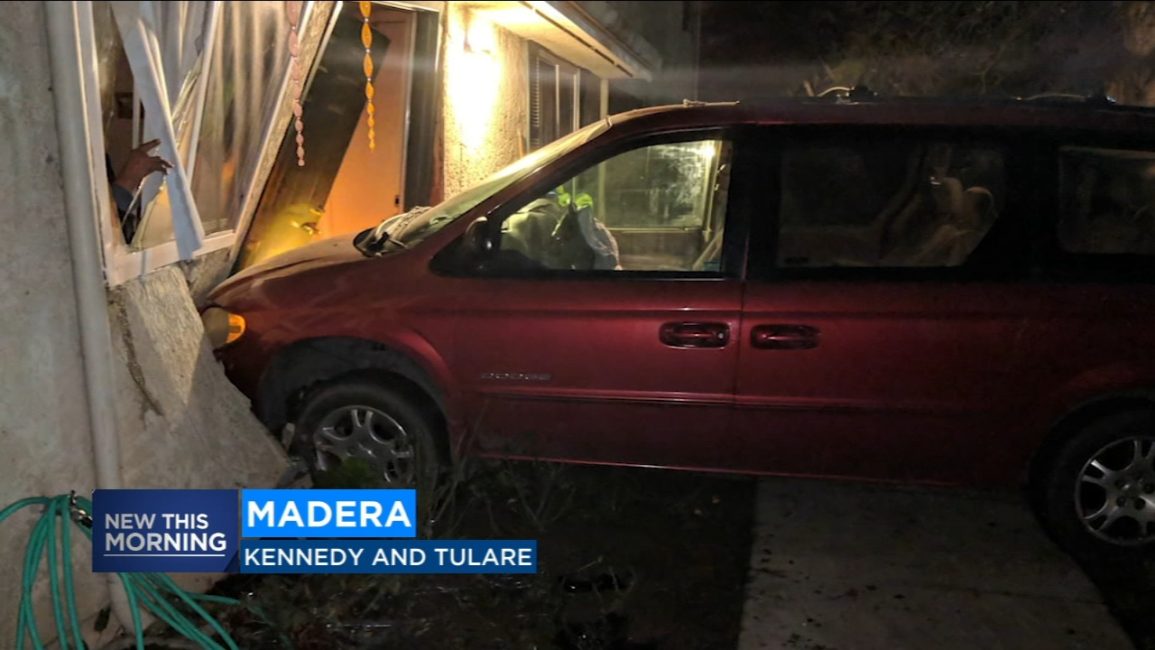 Drunk driver smashes car through front of apartment building in Madera