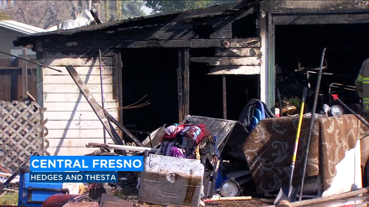 Fire officials put out garage fire in Central Fresno