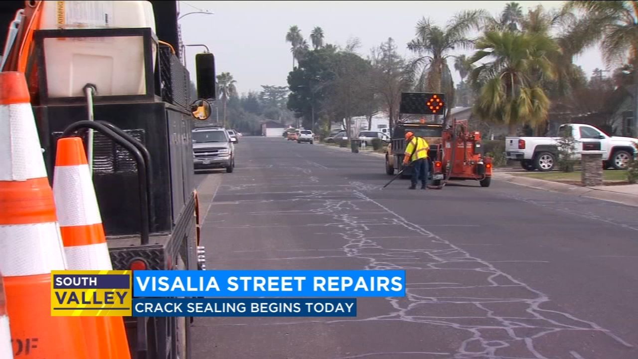 City of Visalia alerts drivers of possible delays while streets are repaired