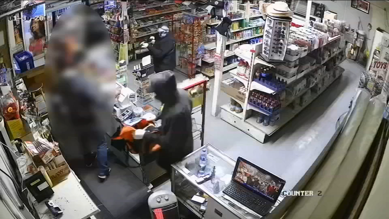 In the very clear surveillance video of the suspects, they walked into the Family Market in Ivanhoe.