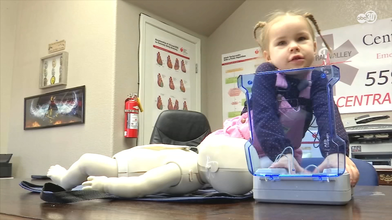 A Tulare CPR instructor says he began teaching his daughter how to perform life-saving techniques before she could walk, and believes that if she can learn, anyone can.