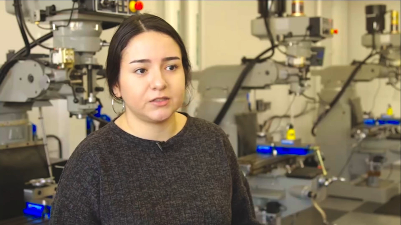 Alejandra Leijas path to higher education brought her from the town of Parlier to Fresno State where she is majoring in mechanical engineering.