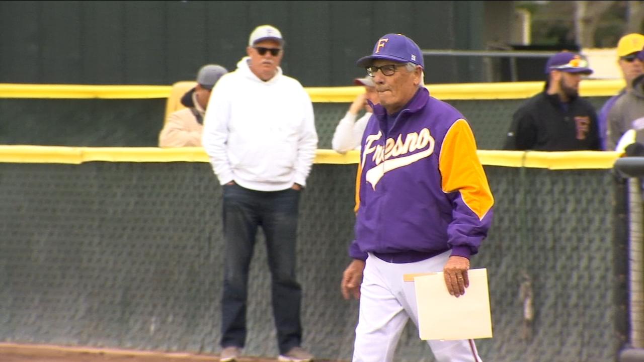 Fresno High names baseball field after long-time coach Ken Papi