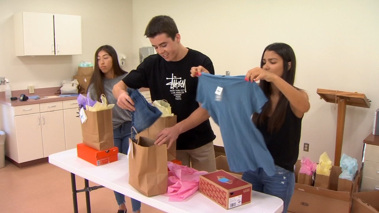 The clothing was provided by donations from Styled 2 Smile, which was started by Macie Sanchez.