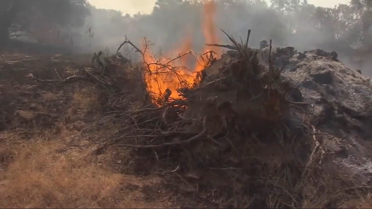As of Saturday evening, the fire has burned 95,942 acres and containment has held steady at 82 percent.