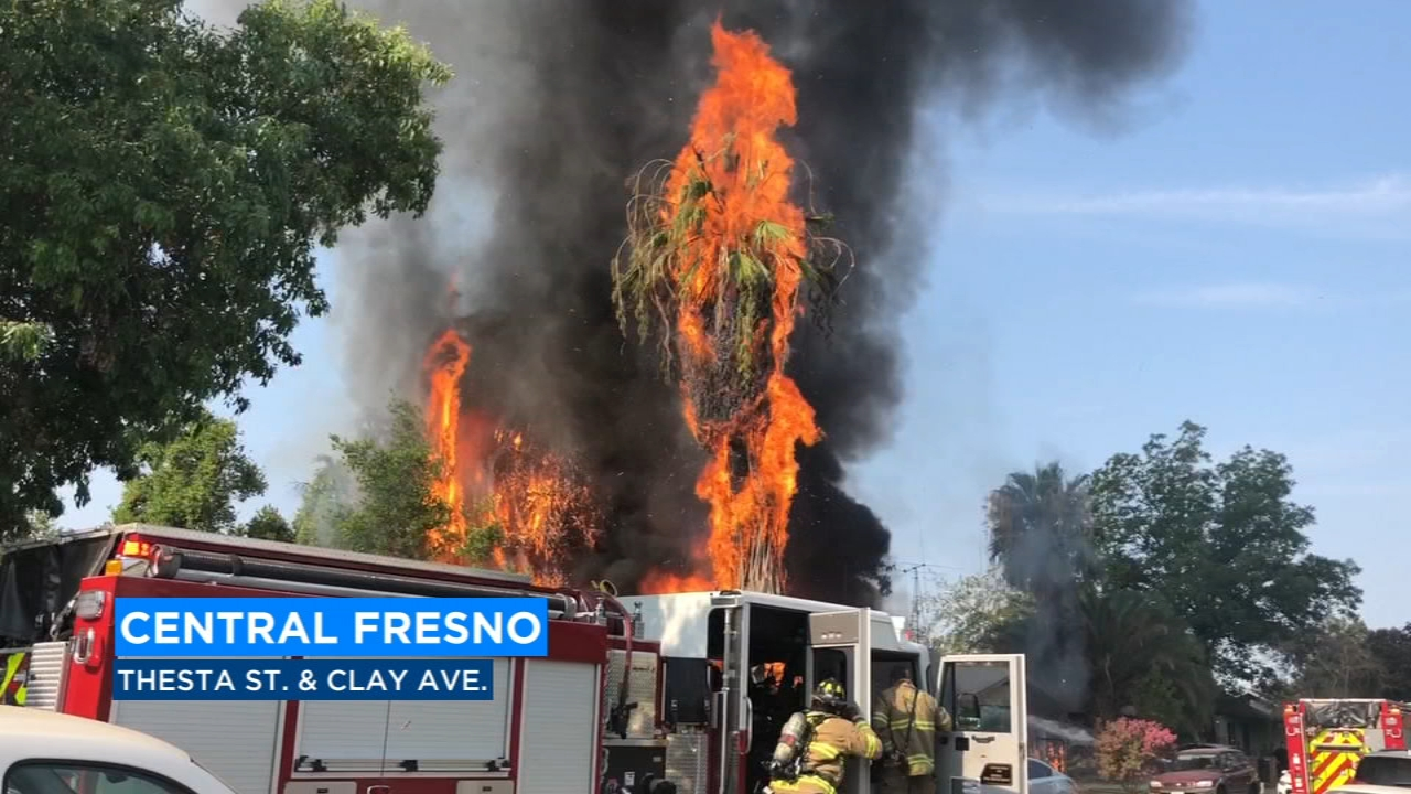 The blaze then spread to two nearby structures near Thesta Street and Clay Avenue.