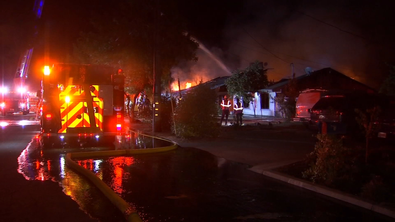A Northeast Fresno home is a total loss after catching on fire for a second time.