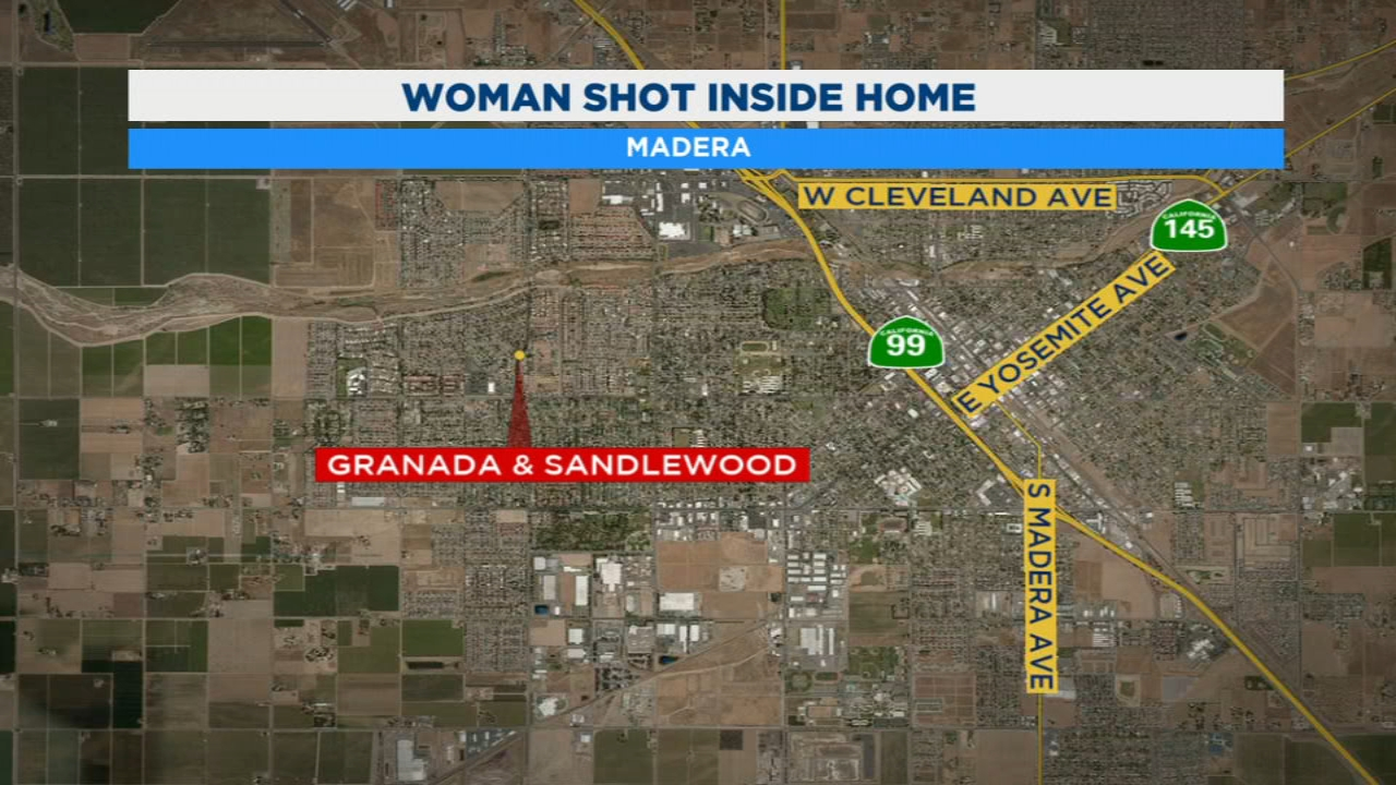 The search is on for a suspect after a woman was shot several times in a Madera home.