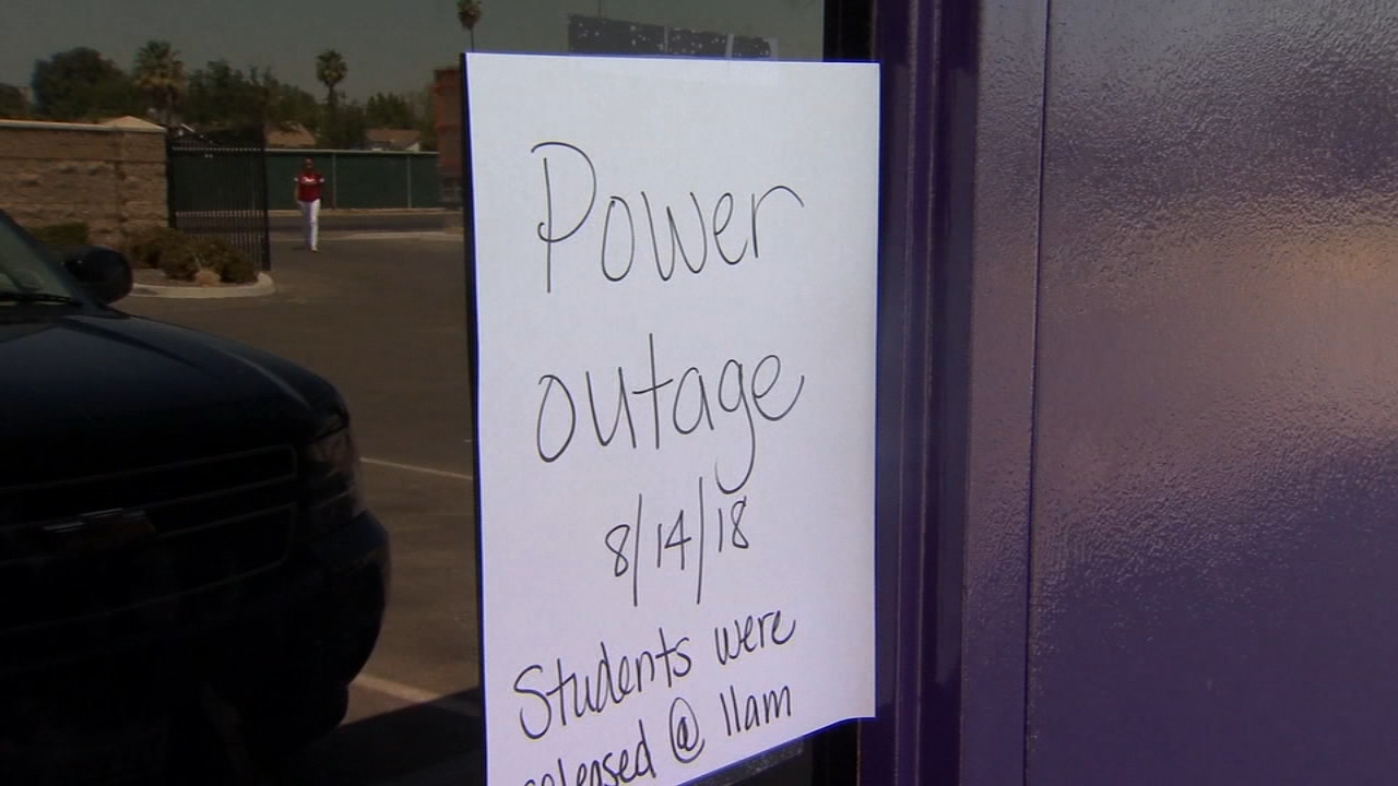 The excitement of the first day of school was tempered Tuesday by a sudden power outage in Easton.