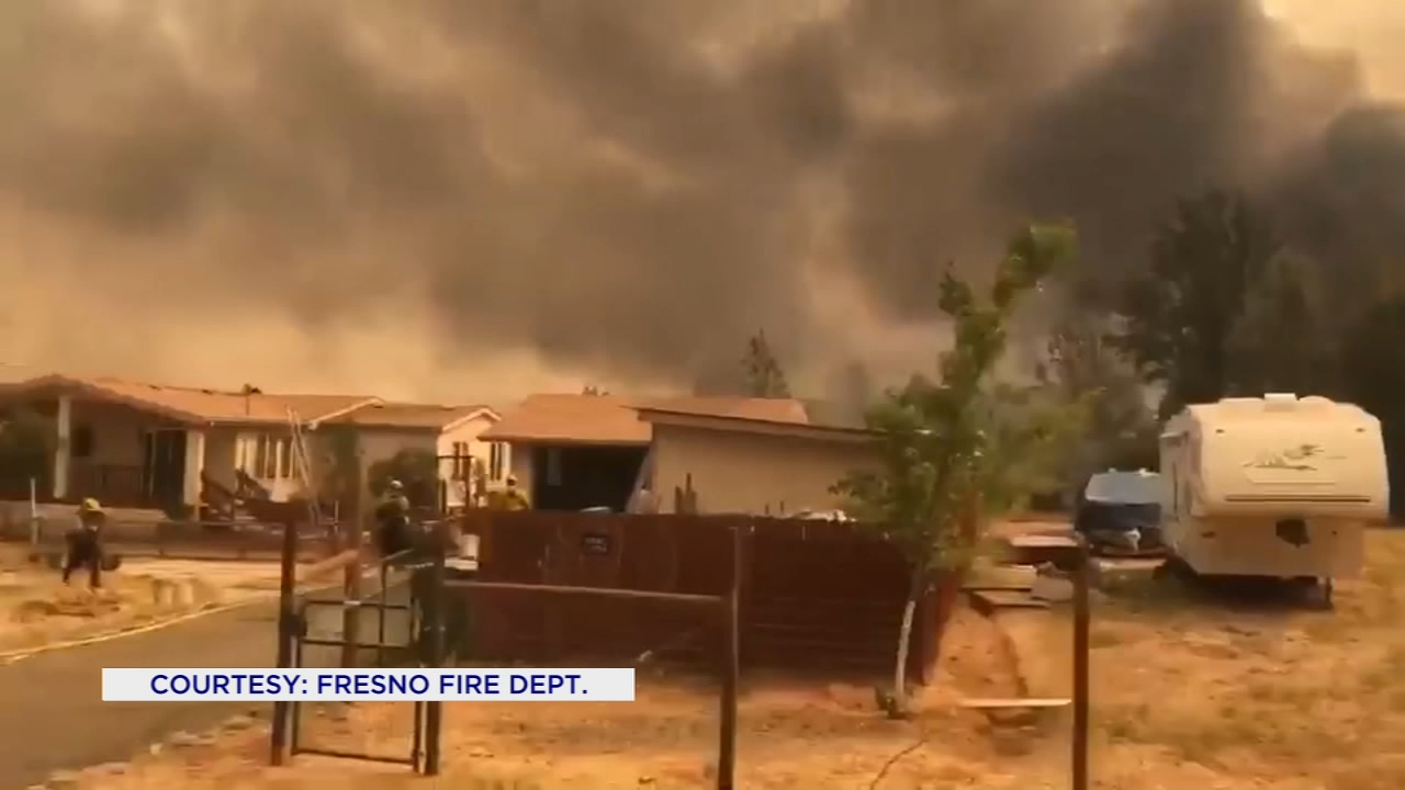 Fresno firefighters are in Mendocino County helping fight the Ranch Fire.