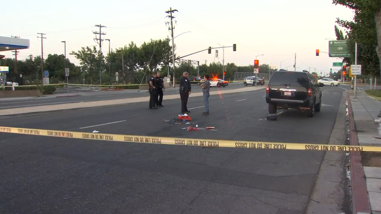 Traffic is back open in Downtown Fresno after a man was hit by a car Wednesday morning.