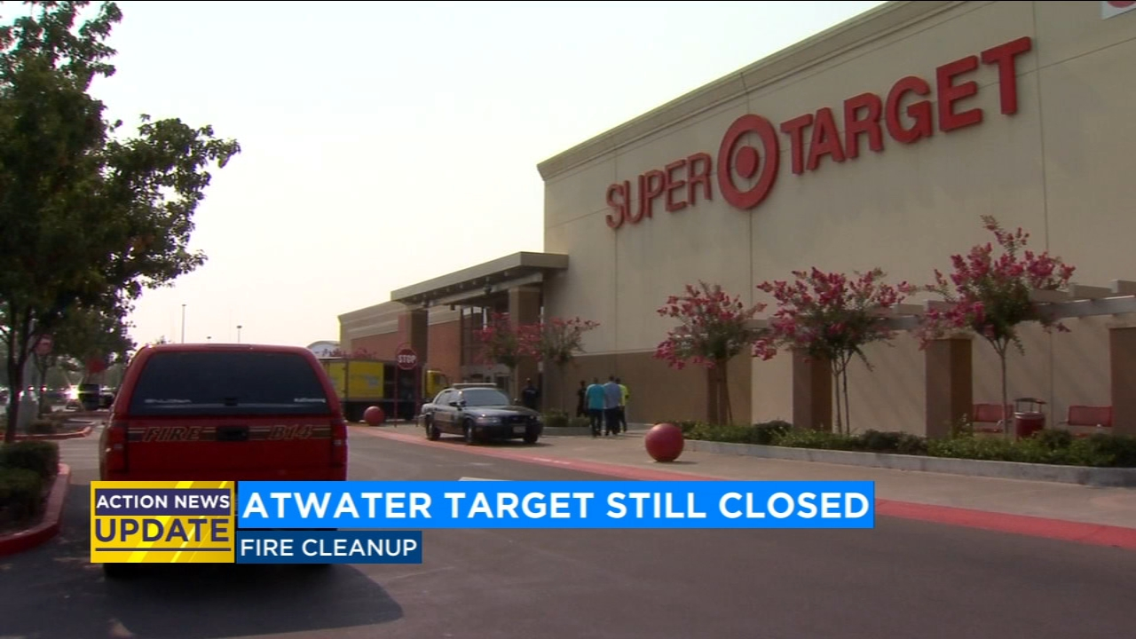 A Target store in Atwater that was damaged from a fire will remain closed for at least a few more weeks.