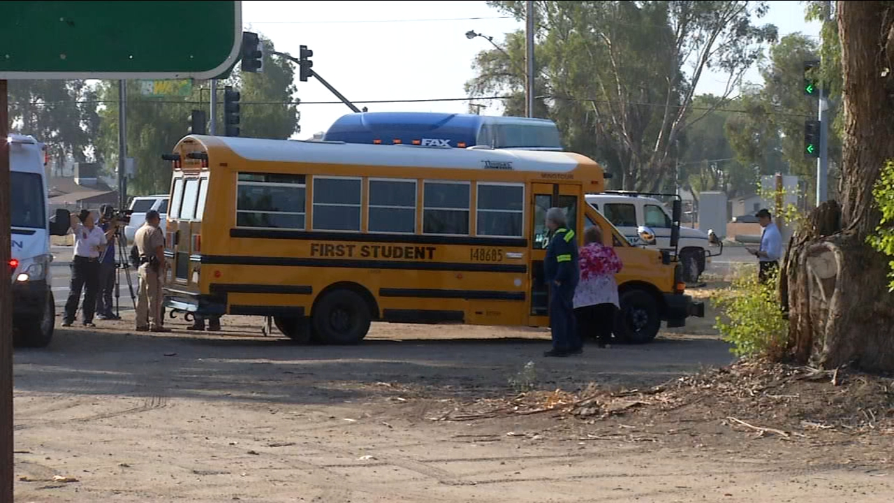 Several students were a bit late to school after a FAX Bus and First Student school bus collided.