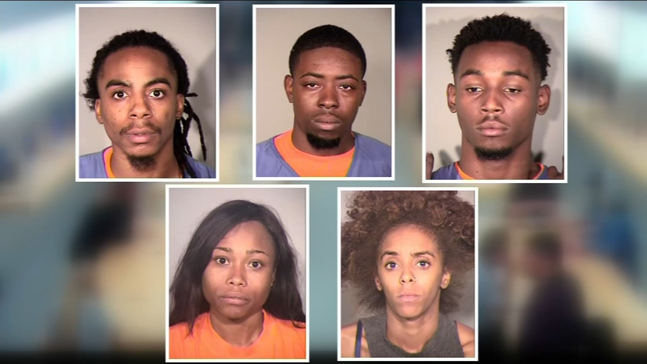 Thieves accused of robbing several Apple stores across the state is now in custody after customers took them down in Thousand Oaks.