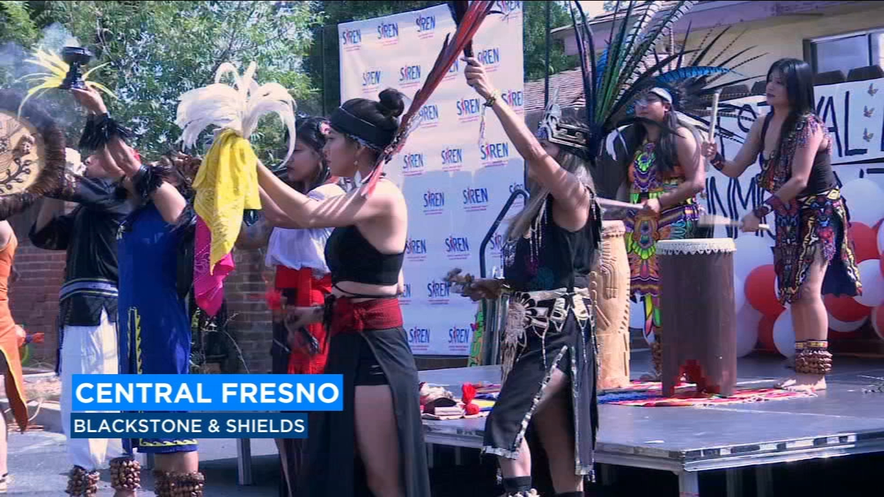Drummers and dancers got things rolling for a festival to mark the opening of the first SIREN office in Fresno.